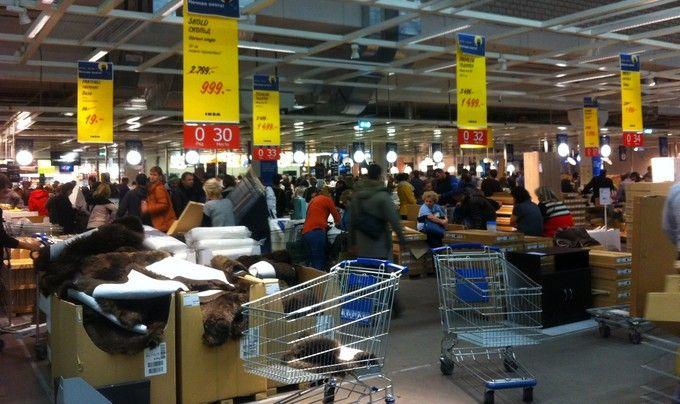 Noch rasprodazh v IKEA