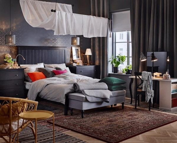 Мебель Икеа в интерьере спальни